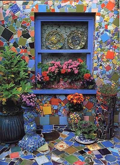 Декорирование двора мозаикой