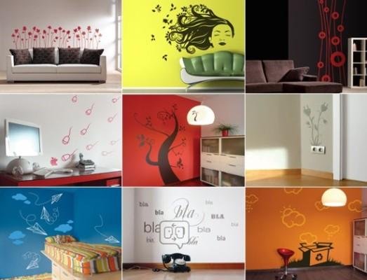 Наклейки на стену от зарубежных дизайнерских студий отличаются оригинальностью и большим выбором тематик