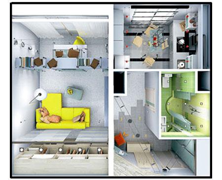 однокомнатной квартиры