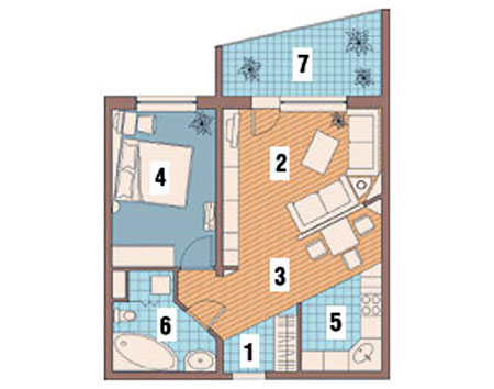 Однокомнатная квартира после