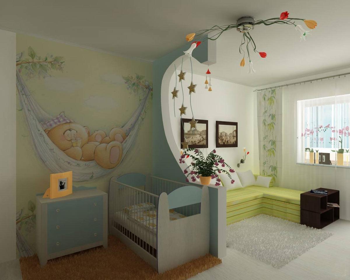 Зонирование — важный этап при разработке интерьера детской комнаты, особенно если есть существенная разница в возрасте