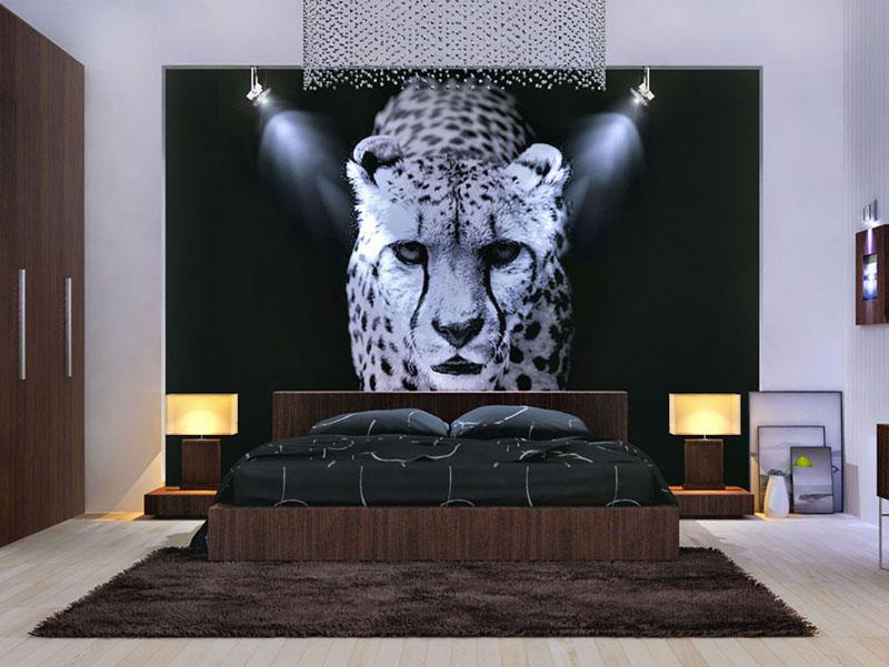 Вариант декора спальни в стиле модерн