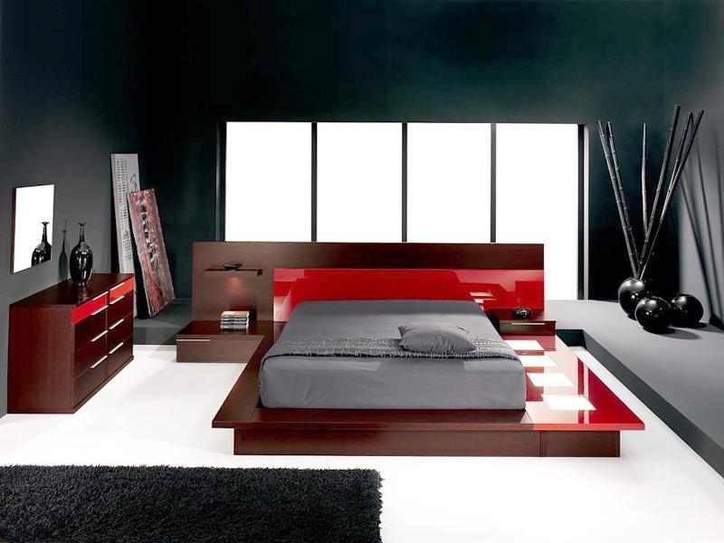 Стиль модерн в спальне с элементами стиля минимализм и хай-тек