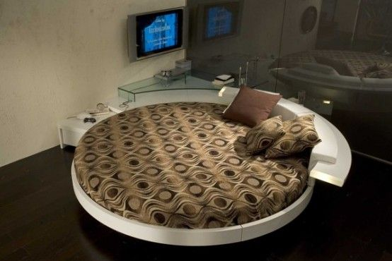 Спальня в стиле модерн в коричневых тонах