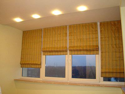 Оформление окна спальни в японском стиле