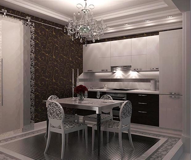 Пример дизайна интерьера кухни в стиле арт деко