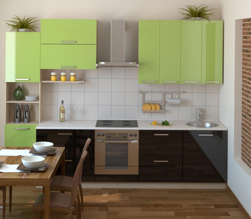 Стиль модерн может быть реализован и для маленькой кухни