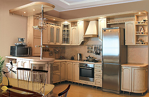 Рациональная организация пространства - еще один плюс кухни в классическом стиле