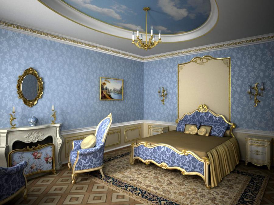 Множество деталей в виде дорогих украшений – отличительная черта стиля барокко