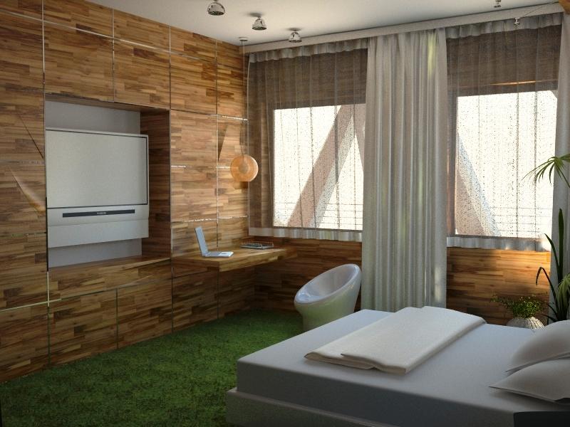 Стиль эко для спальни в естественной цветовой гамме