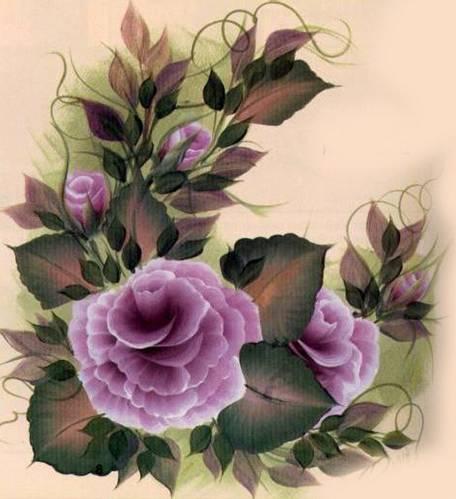 Рисование тремя цветами краски