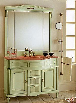 Современная интерпретация мебели в стиле прованс для ванной.