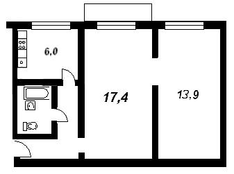 Площадь ванной комнаты в типовой хрущевке составляет от 2 до 3 кв.м.