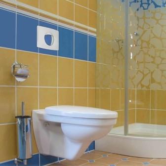 Для небольшой ванной в хрущевке идеальным решением станет монтаж навесного унитаза