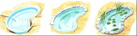 Установка жесткой ванны искусственного водоема