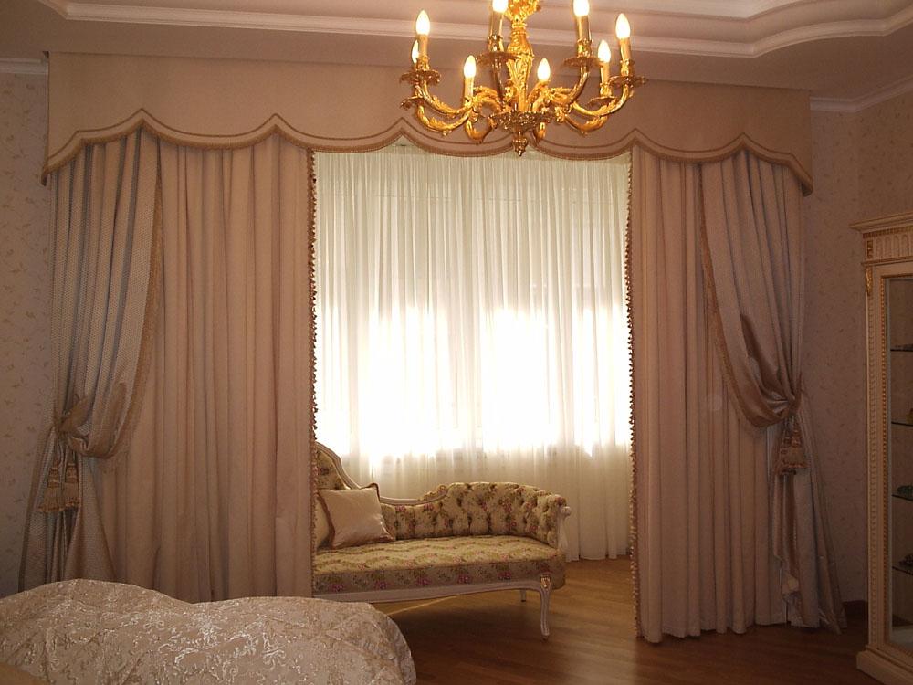 Дизайн классических штор с ламбрекеном