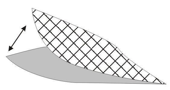 Знімається підкладка з вирізаного елементу трафарету