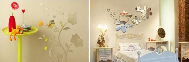 Дзеркальні квіти в дизайні кімнат