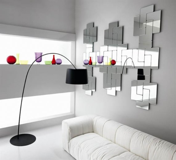 Скляна мозаїка в інтер'єрі вітальні