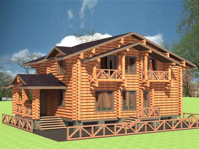 Візуалізація проекту дерев яного котеджу a21c0181b238b