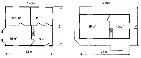 Рис. 8г. Третий вариант планировки дома