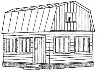 Рис. 9. Дом с мансардой