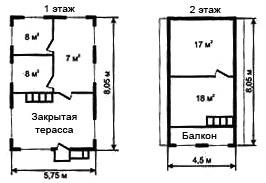 Рис. 9.а. Второй вариант планировки дома