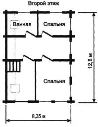 Рис. 10в. Планировка второго этажа