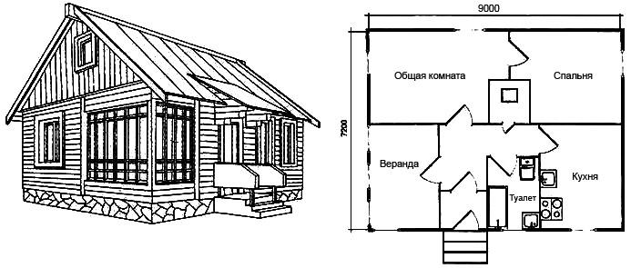Рис. 5. Проект одноэтажного дома