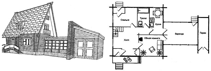 Рис. 6. План мансардного садового дома