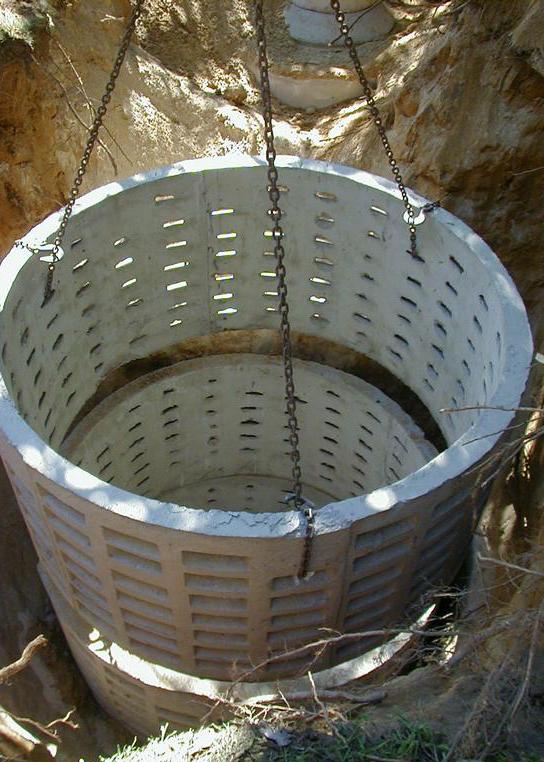 Железобетонные кольца для фильтрующего колодца