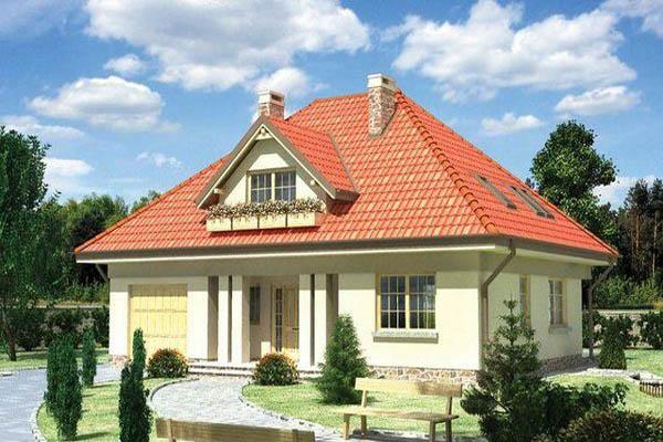 Конструкция четырехскатной вальмовой крыши.
