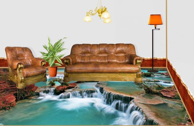 Формат 3D оживляет интерьер в комнате для гостей
