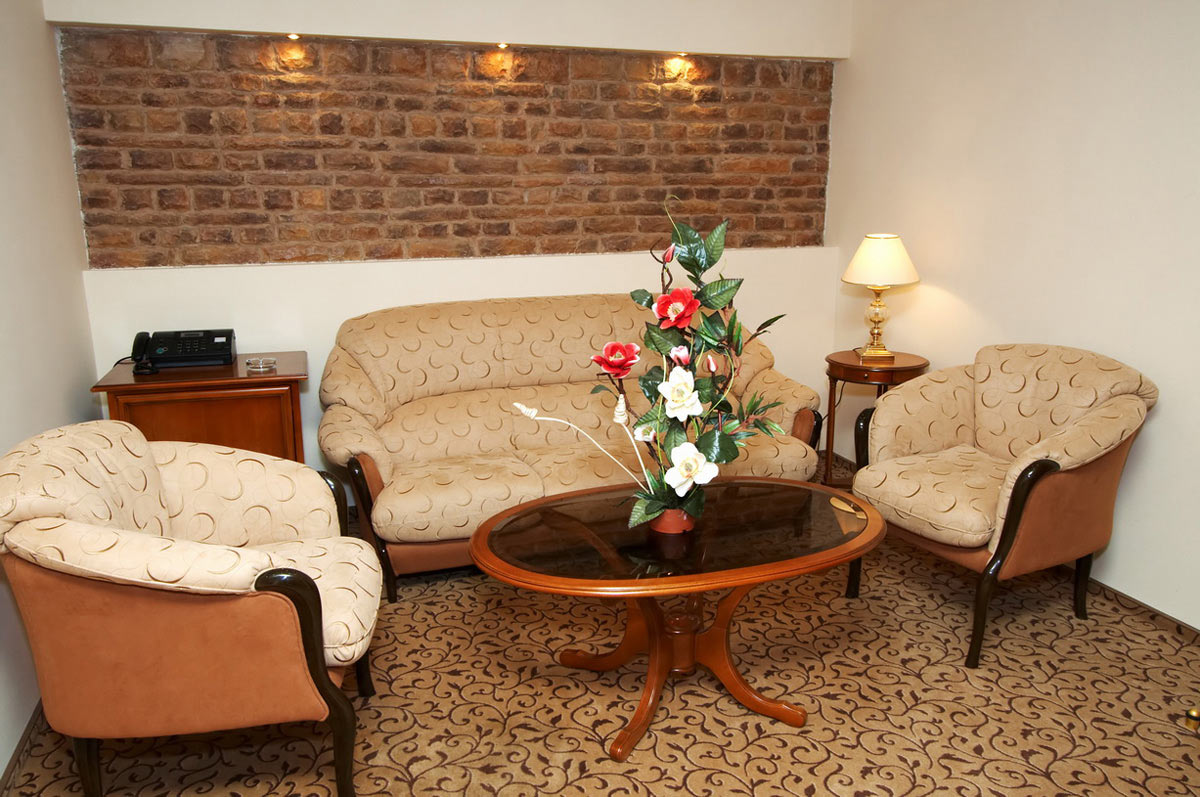 Гостиная с использованием ковролина