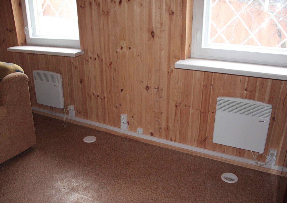 Электрические конвектора могут применятся для отопления дачи