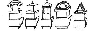 Рис.1. Типы оголовников дымовых труб