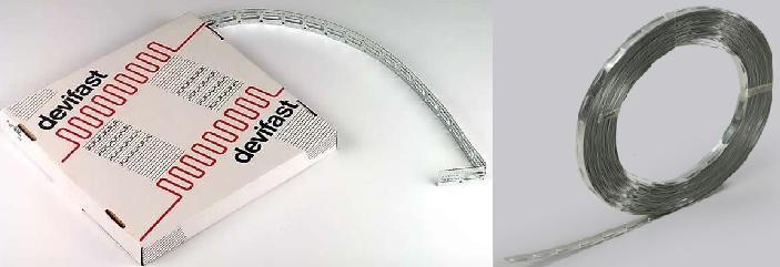 Монтажная лента для крепления нагревательного кабеля теплого пола