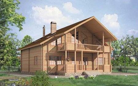 Выбор материала для строительства дома - Деревяные дома. Пример 3