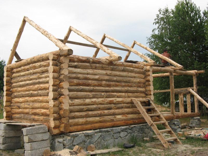 Как построить баню из бревна своими руками поэтапная инструкция
