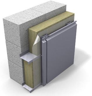 Утепление фасадов - система вентилируемого фасада