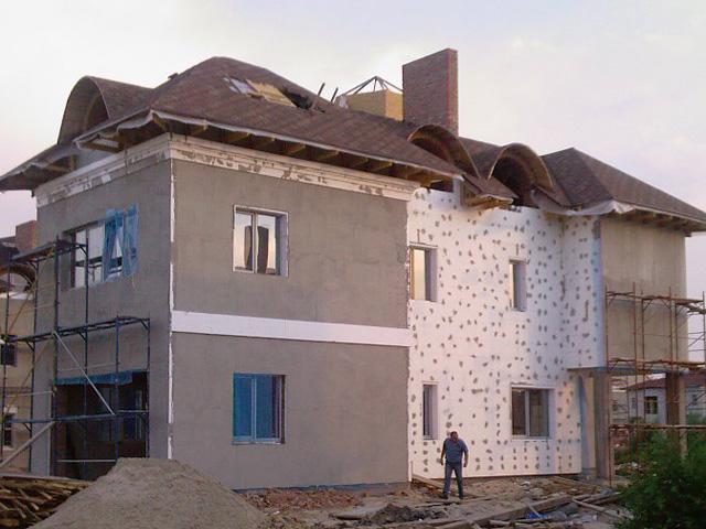 Мокрое утепление фасада дома пенопластом