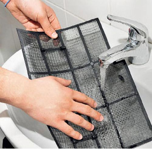 Фильтр промывается проточной водой